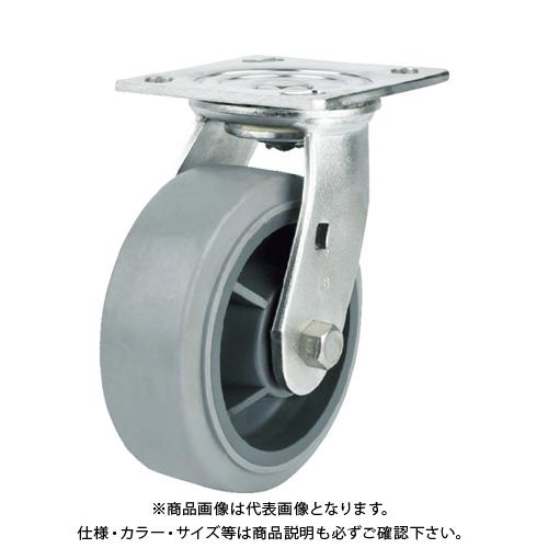 SAMSONG ステンレスキャスター 自在 エラストマー 200mm TP6780-01-MIR