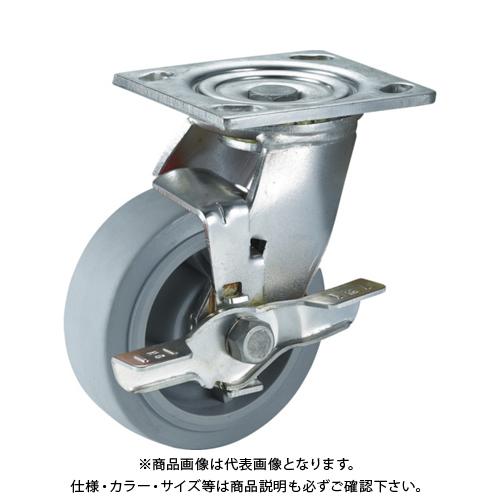 SAMSONG ステンレスキャスター 自在SP付 エラストマー 125mm TP6750-01-MIR-TLB