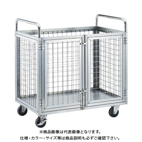 【直送品】TRUSCO ステンレス製網台車 1200X750XH960 観音開き SUAD1-1275