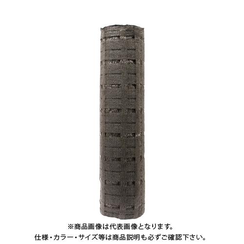 TRUSCO 美観間仕切りネットフェンス ロール ブラウン 80cm×100m TBNF-08100-BR
