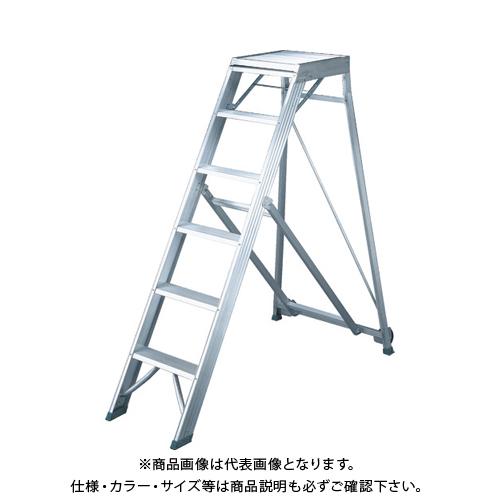 【運賃見積り】【直送品】TRUSCO 折りたたみ式作業用踏み台 高さ1.80m TDAD-180