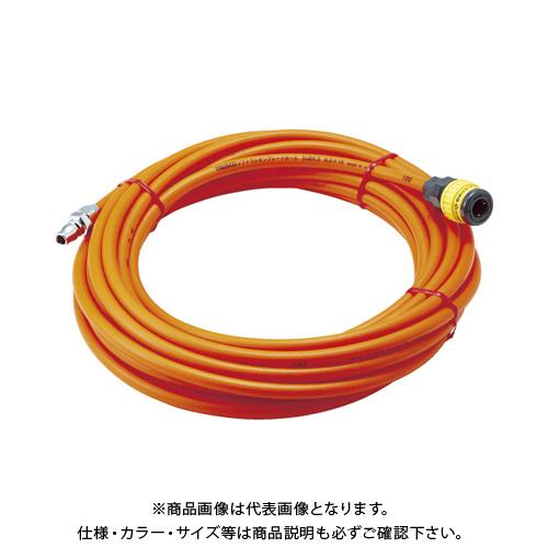 TRUSCO ソフトウレタンブレードホース 6.5X10mm カップリング付 SUB-6.5-30A