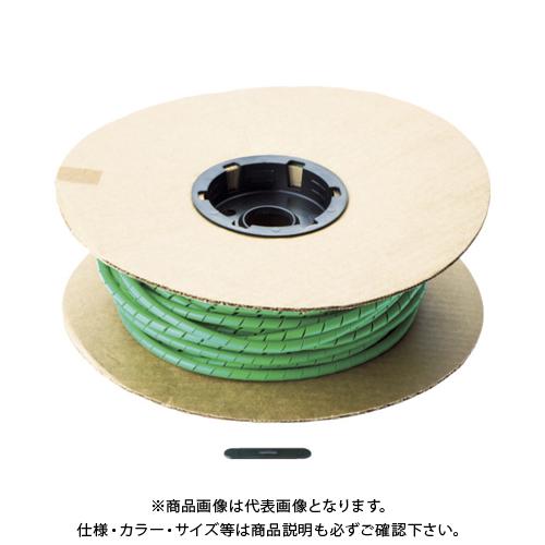 パンドウイット スパイラルラッピング ポリエチレン 緑 T50F-C5