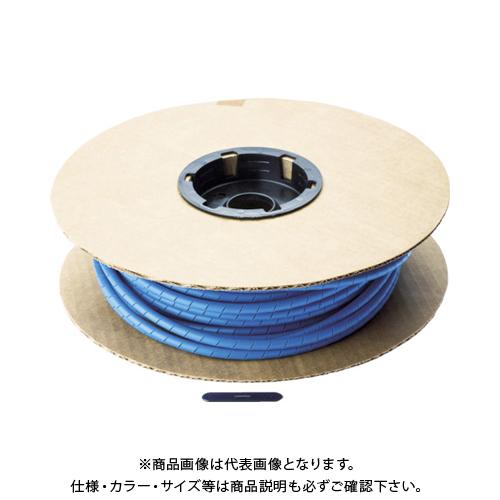 パンドウイット スパイラルラッピング ポリエチレン 青 T50F-C6