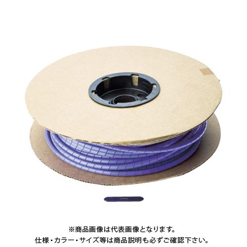 パンドウイット スパイラルラッピング ポリエチレン 紫 T50F-C7