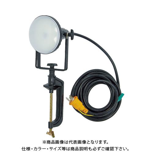TRUSCO LED投光器 DELKURO バイスタイプ 20W 10m アース付 2芯3芯両用タイプ RTLE-210EP-V
