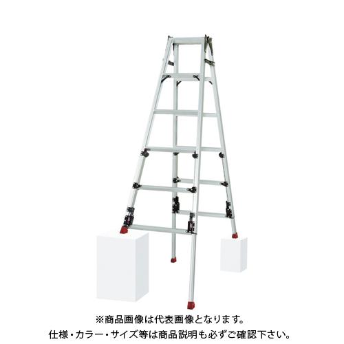 【運賃見積り】【直送品】ピカ 四脚アジャスト式脚立スーパーかるノビSCN型ロングスライドタイプ SCN-180L