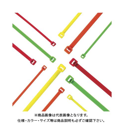 パンドウイット ナイロン結束バンド 蛍光オレンジ (1000本入) PLT2S-M53