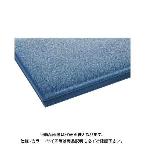 【運賃見積り】 【直送品】 テラモト テラクッション極厚 900×1500 ブルー MR-069-044-3