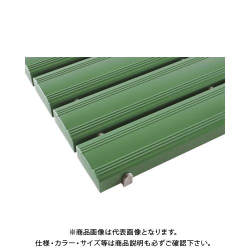 【運賃見積り】 【直送品】 テラモト 抗菌安全スノコ(組立品)400×1800緑 MR-093-314-1