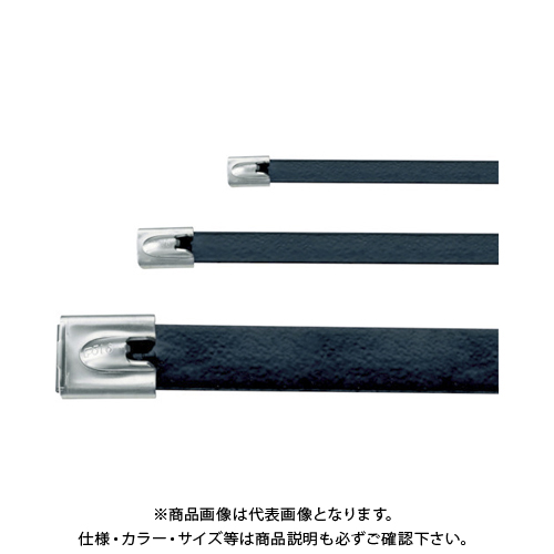 パンドウイット MLTタイプ フルコーティングステンレススチールバンド SUS316 黒 幅12.9mm 長さ594mm 50本入り MLTFC6EH-LP316 MLTFC6EH-LP316