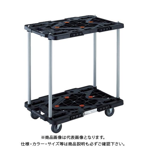 TRUSCO 2段式ルートバン 600X400 ハンドル無 青 MPK-6020-B
