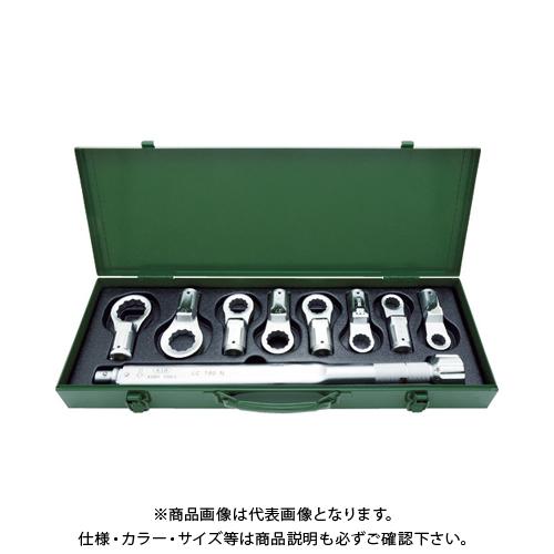 【運賃見積り】【直送品】ASH トルクレンチめがねヘッドセット LC180N+17-36mm LCR4000