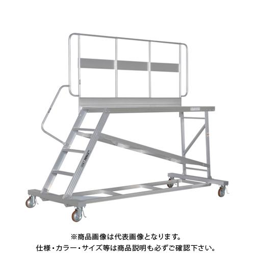 【運賃見積り】【直送品】ピカ 連結式大型作業台 片側手すり DXL-TE90AK