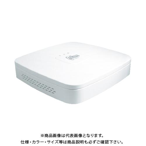 【運賃見積り】【直送品】Dahua 4CH IPカメラ4K対応 4PoE給電ハブ付ネットワークレコーダー 204.6×204.6×45.6 ホワイト DHI-NVR4104-P-4KS2 2TB-1