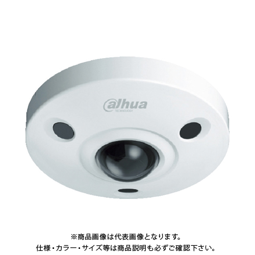 【運賃見積り】【直送品】Dahua 600万画素 IP 赤外線付防水フィッシュアイカメラ φ150×50.7 ホワイト DH-IPC-EBW8600N