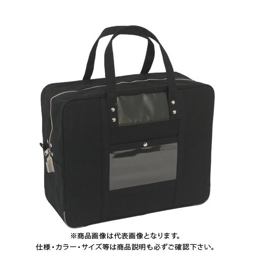 SANEI 帆布メール用ボストン(LL)SED-1錠付 黒 BTLL-SED-01