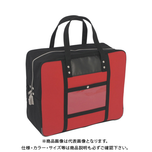 SANEI 帆布メール用ボストン(LL)SED-1錠付 赤 BTLL-SED-02