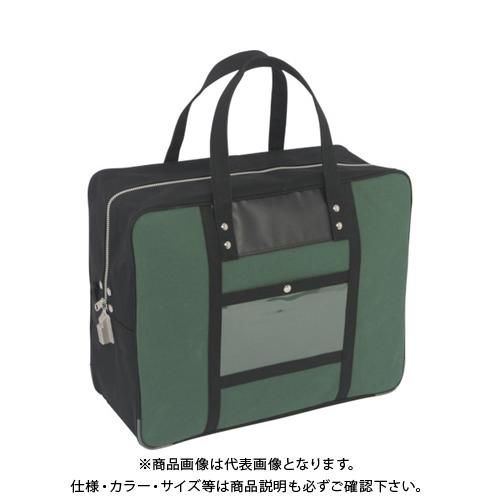 SANEI 帆布メール用ボストン(LL)SED-1錠付 モスグリーン BTLL-SED-07