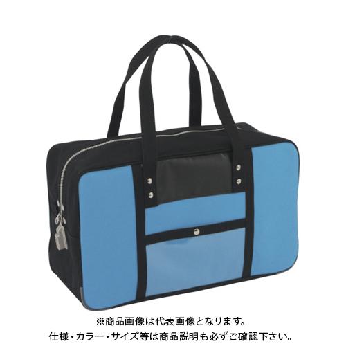 SANEI 帆布メール用ボストン(L)SED-1錠付 ブルー BTL-SED-09