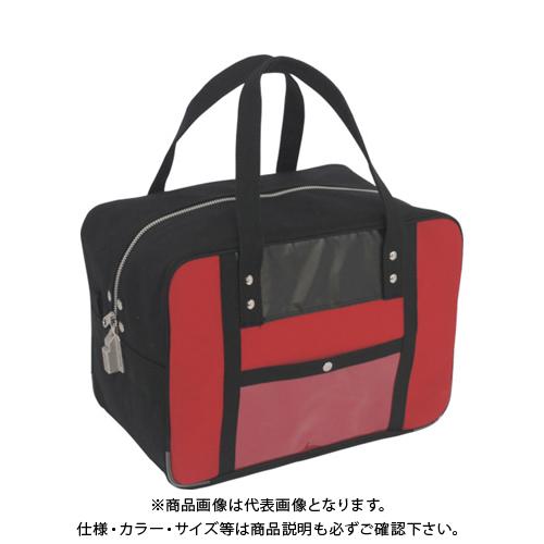 SANEI 帆布メール用ボストンMマチ広 SED-1錠付 赤 BTMDE-SED-02