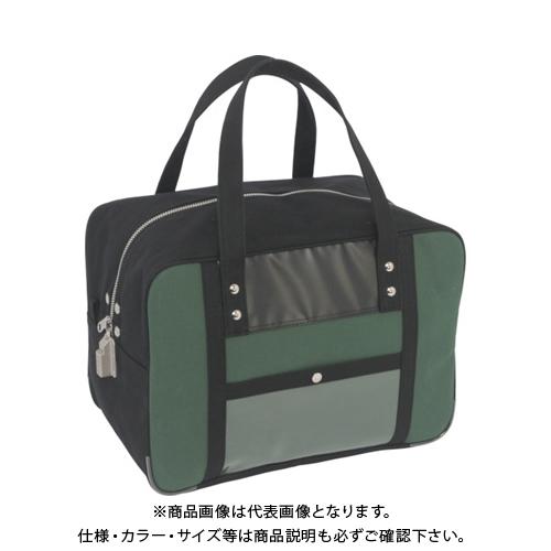 SANEI 帆布メール用ボストンMマチ広 SED-1錠付 モスグリーン BTMDE-SED-07