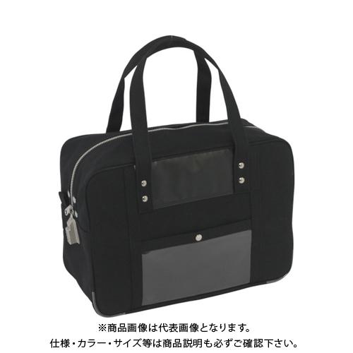 SANEI 帆布メール用ボストン(M)SED-1錠付 黒 BTM-SED-01