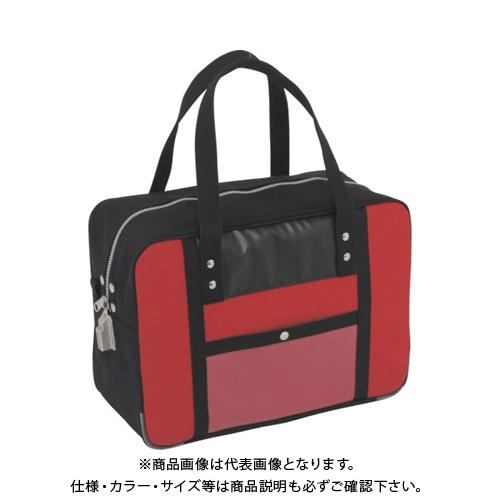 SANEI 帆布メール用ボストン(M)SED-1錠付 赤 BTM-SED-02