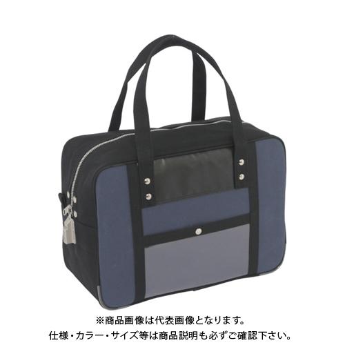 SANEI 帆布メール用ボストン(M)SED-1錠付 紺 BTM-SED-03