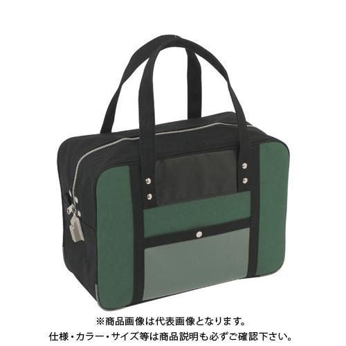 SANEI 帆布メール用ボストン(M)SED-1錠付 モスグリーン BTM-SED-07