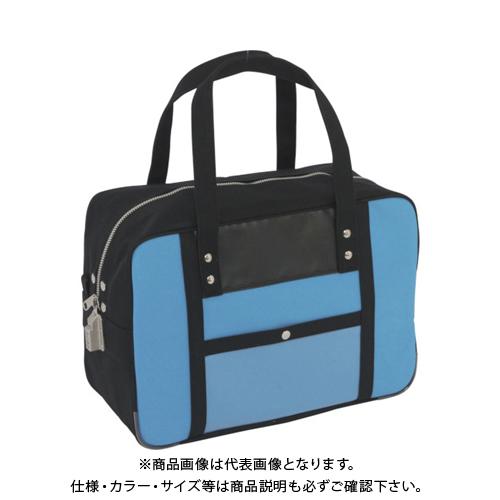 SANEI 帆布メール用ボストン(M)SED-1錠付 ブルー BTM-SED-09