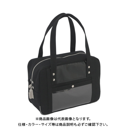 SANEI 帆布メール用ボストン(S)SED-1錠付 黒 BTS-SED-01