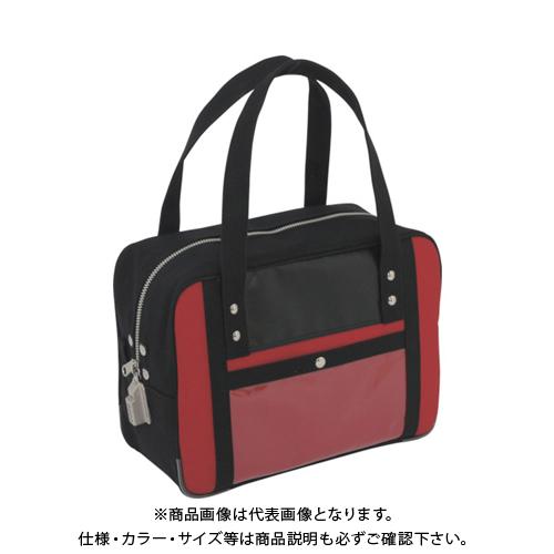 SANEI 帆布メール用ボストン(S)SED-1錠付 赤 BTS-SED-02