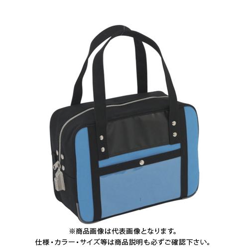 SANEI 帆布メール用ボストン(S)SED-1錠付 ブルー BTS-SED-09