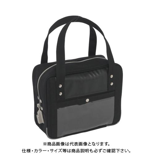 SANEI 帆布メール用ボストン(SS)SED-1錠付 黒 BTSS-SED-01