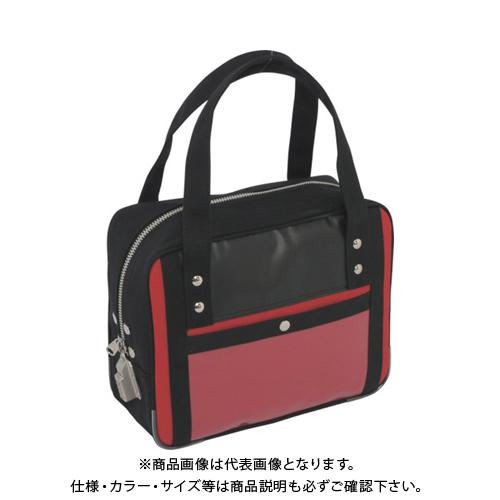 SANEI 帆布メール用ボストン(SS)SED-1錠付 赤 BTSS-SED-02