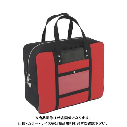 SANEI 帆布メール用ボストン(LL)馬蹄錠金具付 赤 BTLL-U-02