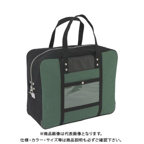 SANEI 帆布メール用ボストン(LL)馬蹄錠金具付 モスグリーン BTLL-U-07
