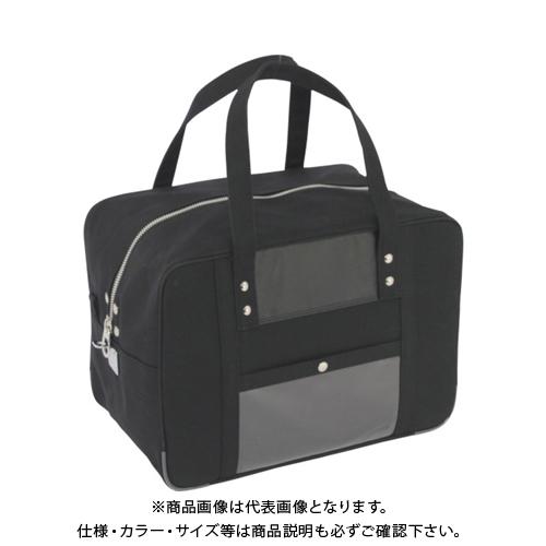 SANEI 帆布メール用ボストンMマチ広 馬蹄錠金具付 黒 BTMDE-U-01
