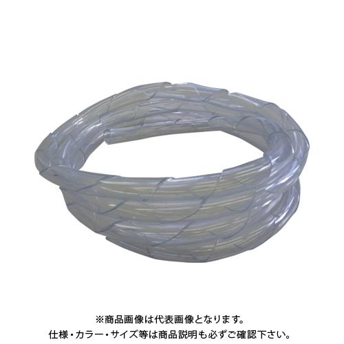 【運賃見積り】【直送品】中村工業 ワイヤロープ用クッションカバー くるっと クリア 5M C19-5