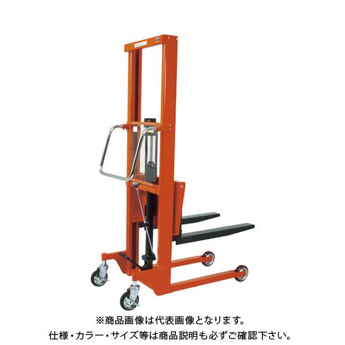 【直送品】TRUSCO コゾウリフター 400kg フォーク式 H110-1235 BEA-H400-12B