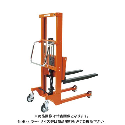 【直送品】TRUSCO コゾウリフター 500kg フォーク式 H116-1235 BEA-H500-12B