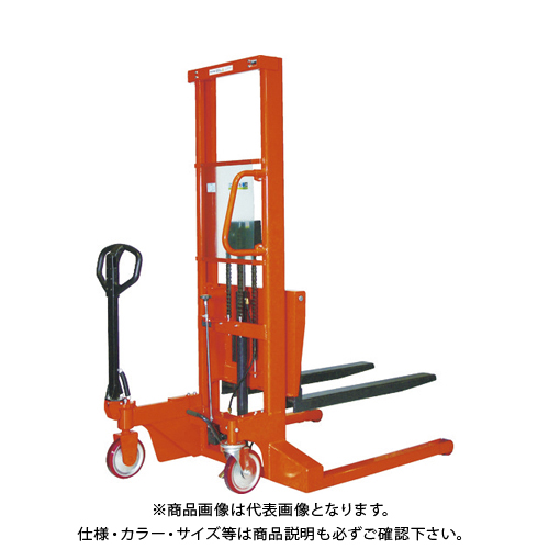 【運賃見積り】 【直送品】 TRUSCO コゾウリフター 足踏み式 400kg 脚内幅900mm BEA-H400-15W9