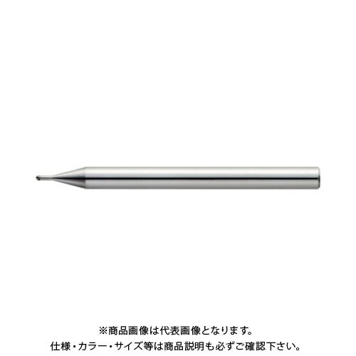 ユニオンツール 2枚刃超仕上げ加工用ロングネックボール R0.5×有効長1.5×刃長0.7×首径0.98 CBN-LBSF2010-015