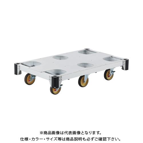 【運賃見積り】【直送品】ピカ アルミ台車CAF 6輪 CAF-6B