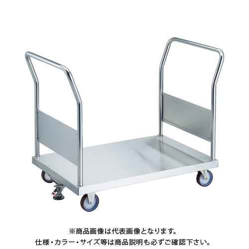【運賃見積り】 【直送品】 TRUSCO オールステン両袖台車 1200X750 φ100NU S付 AS-1W-100NU-S