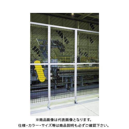 【直送品】TRUSCO アルミ安全フェンス扉 間口1000mmX高さ1800mm ピッチ30 シルバー AFT1810-SV