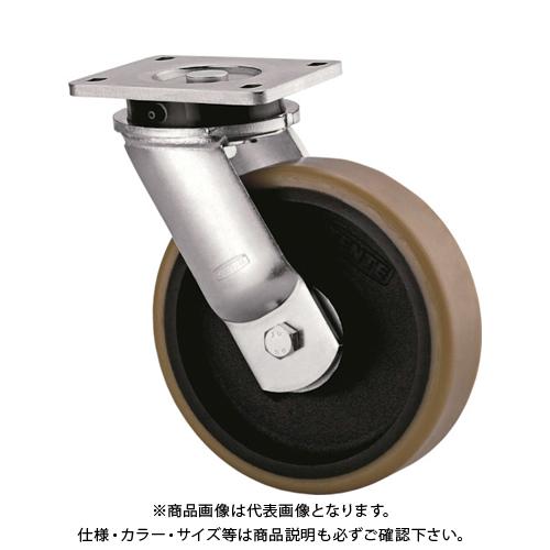 【運賃見積り】【直送品】テンテキャスター 超重荷重用キャスター(ウレタン車輪) 9650FTP200P64
