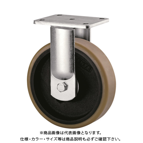 【運賃見積り】【直送品】テンテキャスター 超重荷重用キャスター(ウレタン車輪) φ250 固定式 9688FTP250P64
