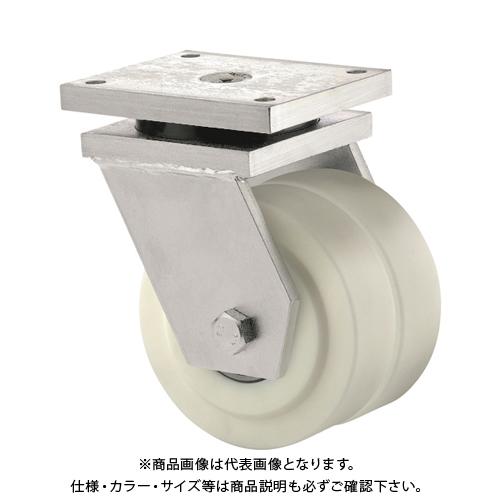 【運賃見積り】【直送品】テンテキャスター 低床式超重荷重用双輪キャスター(ポリアミド車輪) 9950MOP100P65